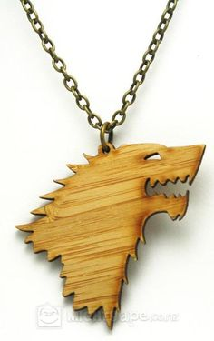 Game of Thrones Bamboo Dire Wolf Necklace