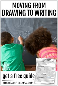 Helping Kids Move from Drawing to Writing - This Reading Mama Free Teaching Resources, Kids Learning Activities, Learning Letters, Writing Activities, Teaching Ideas, Teaching Kids To Write, Teaching Writing, Writing Lesson Plans, Writing Lessons