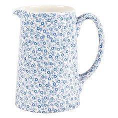 Buy Burleigh Felicity Tankard Jug. 0.29L, Blue/ White Online at johnlewis.com