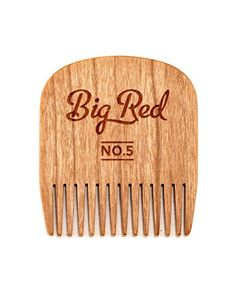 Big Red Beard Combs  Handcrafted No 5 Beard Comb Available in Cherry or Walnut Cherry -- Continue to the product at the image link.