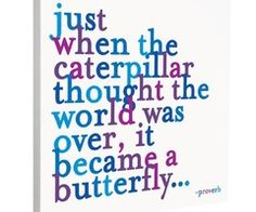 butterfly Love this saying so much...makes me remember to keep hope in my heart...to believe in a higher power and to trust that everything will be what it's meant to be...