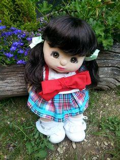 VICTORIA my child doll - brunette v part, brown eyes, charcoal makeup