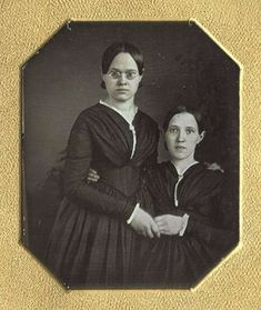 ca. 1840s, [daguerreotype portrait of two women embracing, one wearing tinted spectacles] via Christopher Wahren Fine Photographics, Skylight Gallery