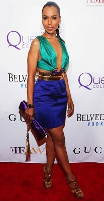 gucci skirts (site:living.msn.com OR site:living.msn.com) | Kerry Washington went metallic in a look from Gucci.
