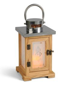 Look what I found on #zulily! Oak Classic Short Lantern & Flameless Candle #zulilyfinds