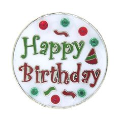 Happy Birthday Ball Marker with Hat Clip