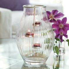 Your tealights will shine in the new Optic Shimmer Tealight Hurricane!