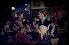 Kae Montgomery & Kristine Adams, from FatChance BellyDance Co. American Tribal Style (ATS) rocks!