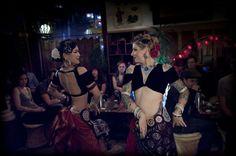 Kae Montgomery & Kristine Adams, from FatChance BellyDance Co. American Tribal Style (ATS) rocks!
