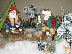 Christmas Decorations - Christmas 2008.  Camping Possible Dreams Santas