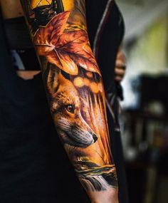 animal tattoos 50 Examples of Fox Tattoo Fox Tattoo Men, Fox Tattoo Design, Deer Tattoo, Tattoo Designs, Raven Tattoo, Badass Tattoos, Body Art Tattoos, Tattoo Art, Tree Tattoos