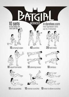 Bauch Beine Po: Das Batgirl BBP Workout macht ganz schnell bereit für den Kampf gegen das Böse - und trainiert die verbreiteten Problemzonen Bauch, Beine und Po.