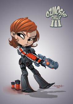 Female Shepard Chibi :: Mass Effect 3 by Red-J on @DeviantArt