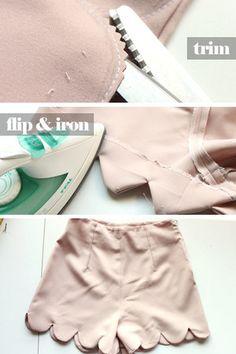 DIY scalloped shorts!