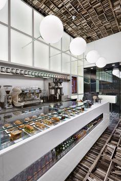 restaurant design. wallpaper.
