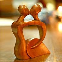 Abstract Kissing I from @NOVICA, They help #artisans succeed worldwide.