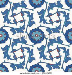 Традиционный арабский орнамент бесшовные.  Цветочный орнамент узор.  Вектор.  Фон - Векторная иллюстрация