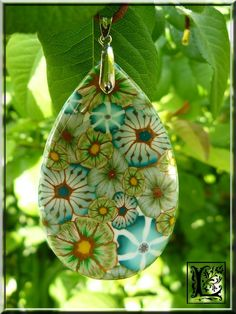Soft glass millefiori pendant - beautiful too!