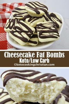 Cheesecake Fat Bombs - Keto and Low Carb If you like cheesecake and are looking for a quick high fat snack to satisfy your sweet tooth, you will love these! Just a few simple steps and you will have wonderful little bites of cheesecake goodness!   #ketorecipes #keto #lowcarb #ketodiet #ketogenicdiet #lowcarbdiet #ketogenic #lowcarbhighfat #lowcarbrecipes #lchf #glutenfree #ketoweightloss #ketocookingchristian