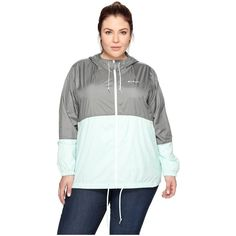 Columbia Plus Size Flash Forward Windbreaker (Sedona Sage/Sea... ($50) ❤ liked on Polyvore featuring plus size women's fashion, plus size clothing, plus size activewear, plus size activewear jackets, columbia sportswear, columbia activewear, columbia and plus size sportswear