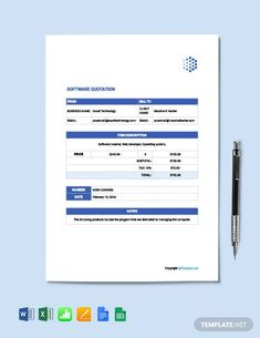 FREE Sample Quotation Template - PDF | Word (DOC) | Excel | Apple (MAC) Pages | Apple Numbers | Template.net Sales Quotation, Quotation Sample, Quotation Format, Business Letter, Business Names, Profit And Loss Statement, Sales Quotes, Download Free Movies Online, Docs Templates