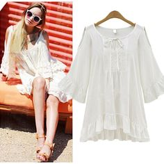 Women-Lady-Off-Shoulder-Loose-Cocktail-Party-Tops-Blouse-T-Shirt-Mini-Dress