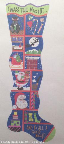Do it yourself snowman needlepoint by lifestyle designer sandy twas the night before christmas needlepoint christmas stocking by lifestyle designer sandy grossman morris solutioingenieria Gallery