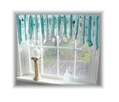 Prisms and Beads Tiffany Blue Driftwood Window Treament Valance http://www.etsy.com/shop/LittleLaLaOriginals?ga_search_query=driftwood+valances_view_type=gallery_ship_to=US_search_type=all=sr_gallery_1