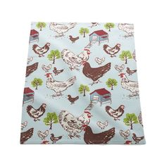 Farmhouse Hen Dishtowel    Crate and Barrel  My sister would love this one!