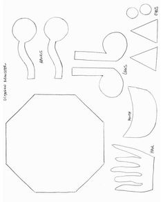 Shapes Crafts  Print Your Square Monster Template At