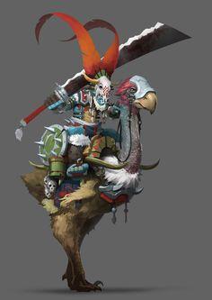 ArtStation - 坐骑鸟骑士, YU YIMING