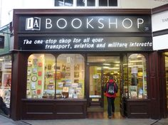 Ian Allan's Bookshop in Cardiff, England  ~ railway, transport and military books