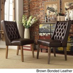 INSPIRE Q Evelyn Tufted Wingback Hostess Chairs (Set of 2) - Overstock Shopping - Great Deals on INSPIRE Q Dining Chairs