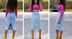 DIY Skirt From Jeans : DIY how to turn jean pants into a pencil skirt