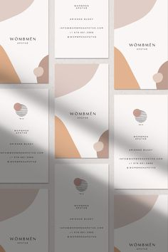 Stylish and modern branding and stationery design with modern business card in artsy geometric abstract pattern. Delicate neutral colors mix with pale blush and pink for this feminine, super trendy and modern graphic design. Design Corporativo, Logo Design, Layout Design, Portfolio Design, Portfolio Layout, Instagram Design, Business Plan Template, Business Card Design, Corporate Design