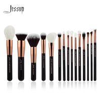 Jessup Rose Or/Noir Professionnel Maquillage Pinceaux Make up Brush Outils kit Fondation Poudre Definer Shader Liner