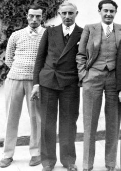 Irving Thalberg with Buster Keaton, Harry Rapf - FamousFix Old Hollywood Stars, Golden Age Of Hollywood, Irving Thalberg, Buster Keaton, Norma Shearer, Louise Brooks, Movie Costumes, Hollywood Studios, Silent Film