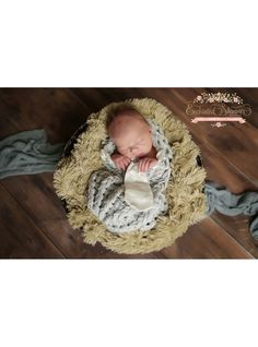 Gray Baby Boy Cocoon | Enchanted Shimmer Designs