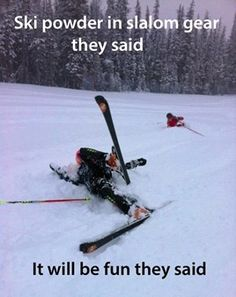 Wanna do better? Check out our freeride skis! #bluetomato #freeski #freeride #powder #funny #humor #itsfunnycauseitstrue #meme #winter