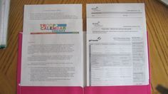 Folder for Girl Scout parents meeting. Great leader blog - tips and advice!