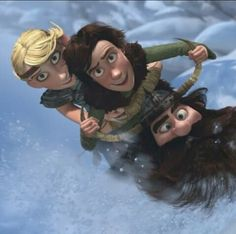 hiccup , astrid and bob