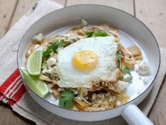 Simple Chilaquiles with Fried Eggs from CookingChannelTV.com
