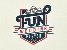 The Fun Wedding logo by Mackey Saturday {via dribbble}