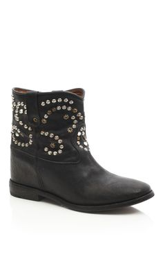 Isabel Marant Accessories Black Caleen Studded Boot