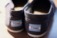 """If you have been living under a rock, for every pair of these super comfy, lightweight shoes, TOMS gives a pair to someone in need. They also sponsor """"A Day Without Shoes"""" to raise awareness for Poverty in the spring."""