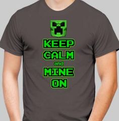 Minecraft Art, Calm, Mens Tops, T Shirt, Tee, Tee Shirt