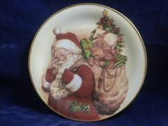 Vintage MW Reutter Collectible Plate Jolly Saint Nick Santa Porcelain W Germany