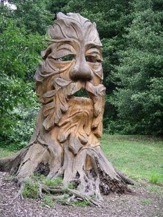 Green Man sculpture at the Morris Arboretum Tree Carving, Wood Carving Art, Wood Art, Chip Carving, Morris Arboretum, Tree Sculpture, Garden Sculptures, Metal Sculptures, Abstract Sculpture