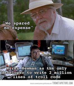Jurassic Park Logic