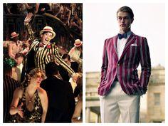 Veste de régate (ou de canotier) à rayures style Gatsby